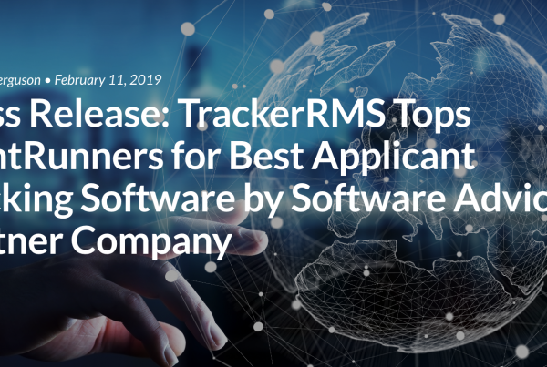 Press Release: TrackerRMS Tops FrontRunners for Best Applicant Tracking Software by Software Advice a Gartner Company