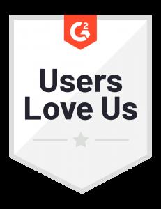 G2 Users Love Us Badge