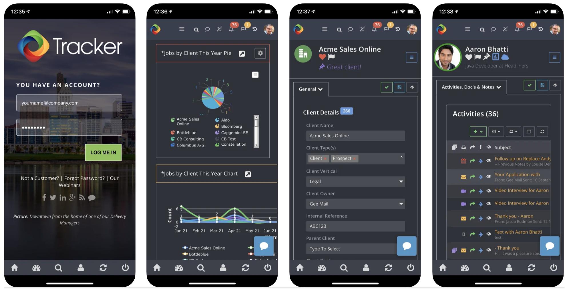 Tracker Mobile App Tracker OTM