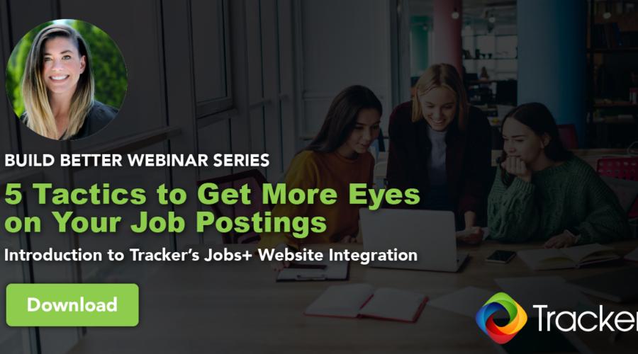 Tracker Webinar on Jobs+ Website Integration